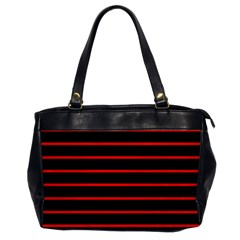 Red And Black Horizontal Lines And Stripes Seamless Tileable Office Handbags