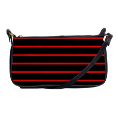 Red And Black Horizontal Lines And Stripes Seamless Tileable Shoulder Clutch Bags