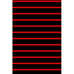 Red And Black Horizontal Lines And Stripes Seamless Tileable 5 5  X 8 5  Notebooks