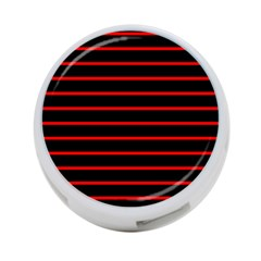 Red And Black Horizontal Lines And Stripes Seamless Tileable 4 Port Usb Hub (one Side)