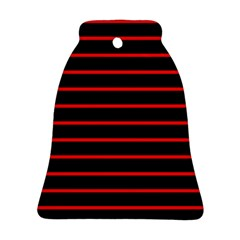 Red And Black Horizontal Lines And Stripes Seamless Tileable Bell Ornament (two Sides)