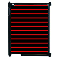 Red And Black Horizontal Lines And Stripes Seamless Tileable Apple Ipad 2 Case (black)