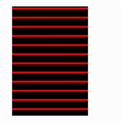 Red And Black Horizontal Lines And Stripes Seamless Tileable Small Garden Flag (two Sides)
