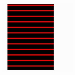 Red And Black Horizontal Lines And Stripes Seamless Tileable Large Garden Flag (two Sides)