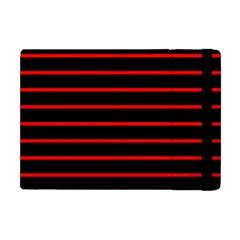 Red And Black Horizontal Lines And Stripes Seamless Tileable Apple Ipad Mini Flip Case