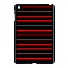 Red And Black Horizontal Lines And Stripes Seamless Tileable Apple Ipad Mini Case (black)