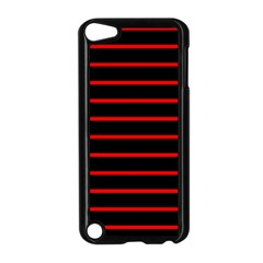Red And Black Horizontal Lines And Stripes Seamless Tileable Apple Ipod Touch 5 Case (black)