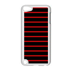 Red And Black Horizontal Lines And Stripes Seamless Tileable Apple Ipod Touch 5 Case (white)