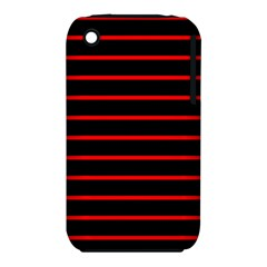 Red And Black Horizontal Lines And Stripes Seamless Tileable Iphone 3s/3gs