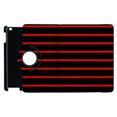 Red And Black Horizontal Lines And Stripes Seamless Tileable Apple Ipad 2 Flip 360 Case