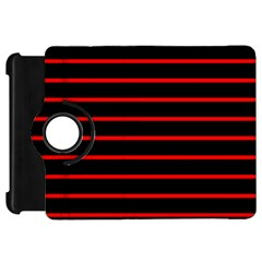 Red And Black Horizontal Lines And Stripes Seamless Tileable Kindle Fire Hd 7