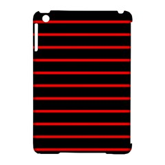 Red And Black Horizontal Lines And Stripes Seamless Tileable Apple Ipad Mini Hardshell Case (compatible With Smart Cover)