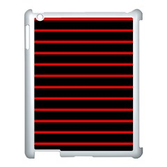 Red And Black Horizontal Lines And Stripes Seamless Tileable Apple Ipad 3/4 Case (white)