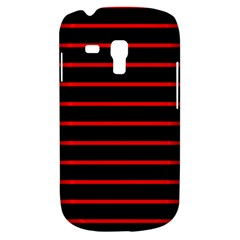 Red And Black Horizontal Lines And Stripes Seamless Tileable Galaxy S3 Mini
