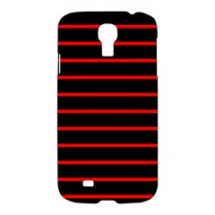 Red And Black Horizontal Lines And Stripes Seamless Tileable Samsung Galaxy S4 I9500/I9505 Hardshell Case