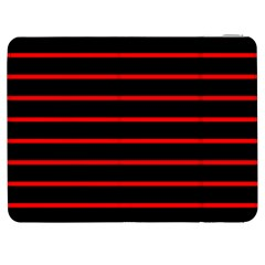 Red And Black Horizontal Lines And Stripes Seamless Tileable Samsung Galaxy Tab 7  P1000 Flip Case