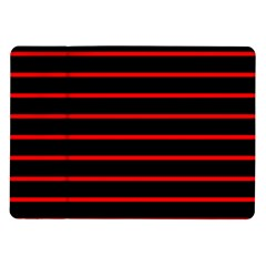 Red And Black Horizontal Lines And Stripes Seamless Tileable Samsung Galaxy Tab 10 1  P7500 Flip Case