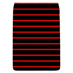 Red And Black Horizontal Lines And Stripes Seamless Tileable Flap Covers (l)