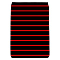 Red And Black Horizontal Lines And Stripes Seamless Tileable Flap Covers (s)