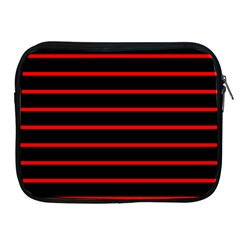 Red And Black Horizontal Lines And Stripes Seamless Tileable Apple Ipad 2/3/4 Zipper Cases