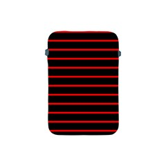 Red And Black Horizontal Lines And Stripes Seamless Tileable Apple Ipad Mini Protective Soft Cases