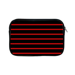 Red And Black Horizontal Lines And Stripes Seamless Tileable Apple Ipad Mini Zipper Cases