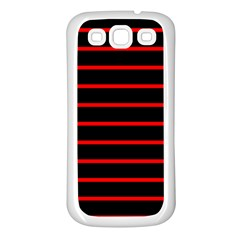 Red And Black Horizontal Lines And Stripes Seamless Tileable Samsung Galaxy S3 Back Case (white)