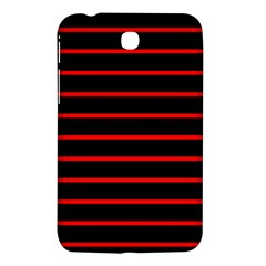 Red And Black Horizontal Lines And Stripes Seamless Tileable Samsung Galaxy Tab 3 (7 ) P3200 Hardshell Case