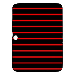 Red And Black Horizontal Lines And Stripes Seamless Tileable Samsung Galaxy Tab 3 (10 1 ) P5200 Hardshell Case