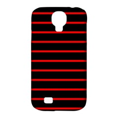 Red And Black Horizontal Lines And Stripes Seamless Tileable Samsung Galaxy S4 Classic Hardshell Case (pc+silicone)