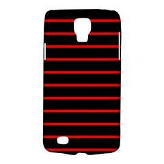 Red And Black Horizontal Lines And Stripes Seamless Tileable Galaxy S4 Active