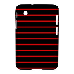 Red And Black Horizontal Lines And Stripes Seamless Tileable Samsung Galaxy Tab 2 (7 ) P3100 Hardshell Case