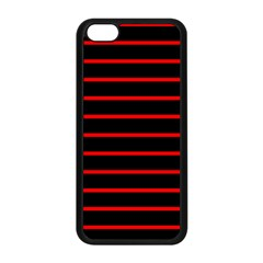 Red And Black Horizontal Lines And Stripes Seamless Tileable Apple Iphone 5c Seamless Case (black)