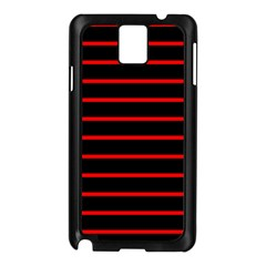 Red And Black Horizontal Lines And Stripes Seamless Tileable Samsung Galaxy Note 3 N9005 Case (black)