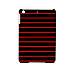 Red And Black Horizontal Lines And Stripes Seamless Tileable Ipad Mini 2 Hardshell Cases