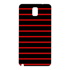 Red And Black Horizontal Lines And Stripes Seamless Tileable Samsung Galaxy Note 3 N9005 Hardshell Back Case