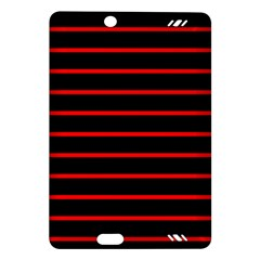 Red And Black Horizontal Lines And Stripes Seamless Tileable Amazon Kindle Fire Hd (2013) Hardshell Case