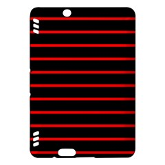 Red And Black Horizontal Lines And Stripes Seamless Tileable Kindle Fire Hdx Hardshell Case