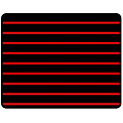 Red And Black Horizontal Lines And Stripes Seamless Tileable Double Sided Fleece Blanket (medium)