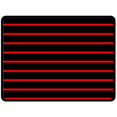 Red And Black Horizontal Lines And Stripes Seamless Tileable Double Sided Fleece Blanket (large)