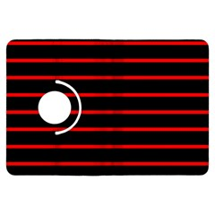 Red And Black Horizontal Lines And Stripes Seamless Tileable Kindle Fire Hdx Flip 360 Case