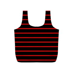 Red And Black Horizontal Lines And Stripes Seamless Tileable Full Print Recycle Bags (s)
