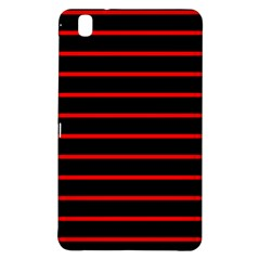 Red And Black Horizontal Lines And Stripes Seamless Tileable Samsung Galaxy Tab Pro 8 4 Hardshell Case