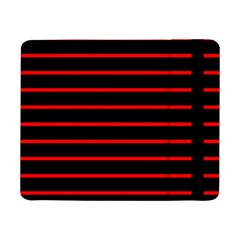 Red And Black Horizontal Lines And Stripes Seamless Tileable Samsung Galaxy Tab Pro 8 4  Flip Case