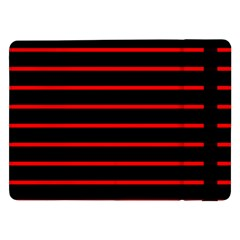 Red And Black Horizontal Lines And Stripes Seamless Tileable Samsung Galaxy Tab Pro 12 2  Flip Case