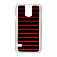 Red And Black Horizontal Lines And Stripes Seamless Tileable Samsung Galaxy S5 Case (white)