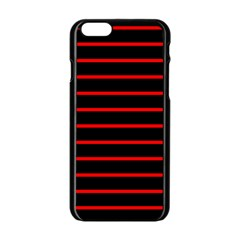 Red And Black Horizontal Lines And Stripes Seamless Tileable Apple Iphone 6/6s Black Enamel Case