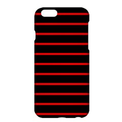 Red And Black Horizontal Lines And Stripes Seamless Tileable Apple Iphone 6 Plus/6s Plus Hardshell Case