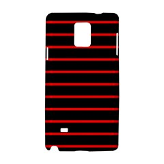 Red And Black Horizontal Lines And Stripes Seamless Tileable Samsung Galaxy Note 4 Hardshell Case