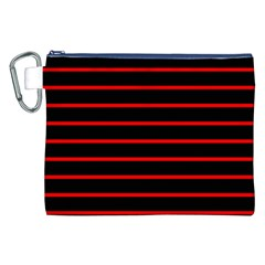 Red And Black Horizontal Lines And Stripes Seamless Tileable Canvas Cosmetic Bag (xxl)